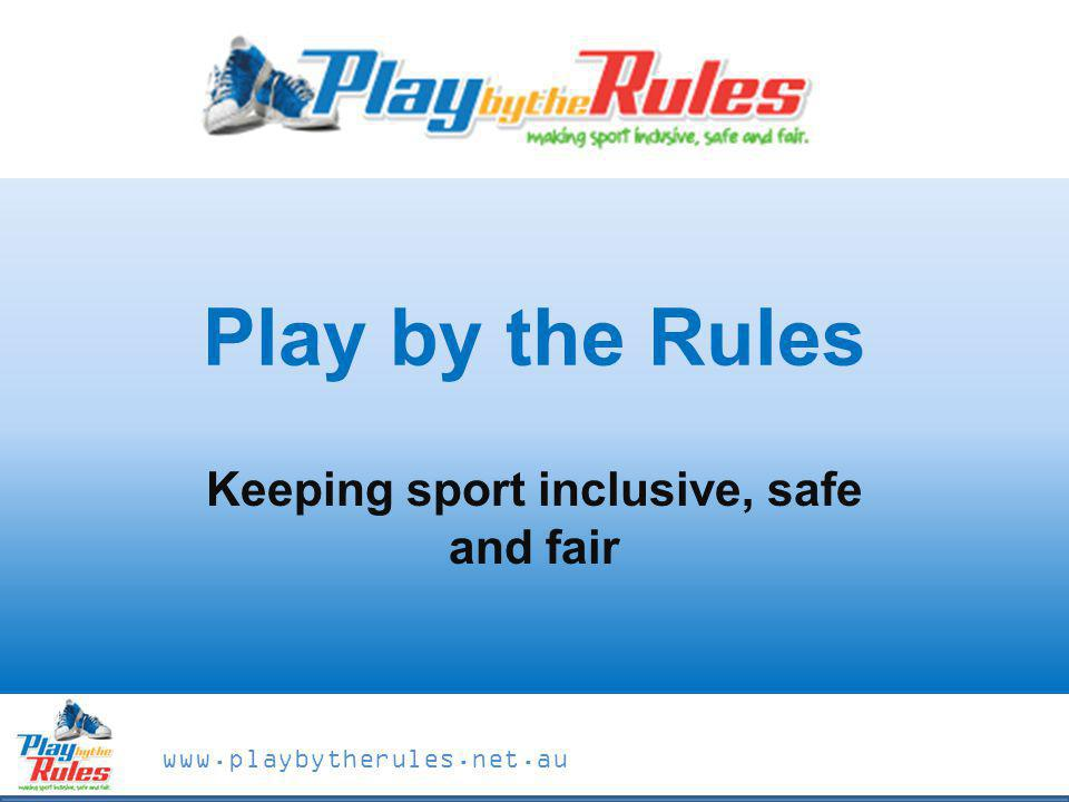 Keeping sport inclusive, safe and fair