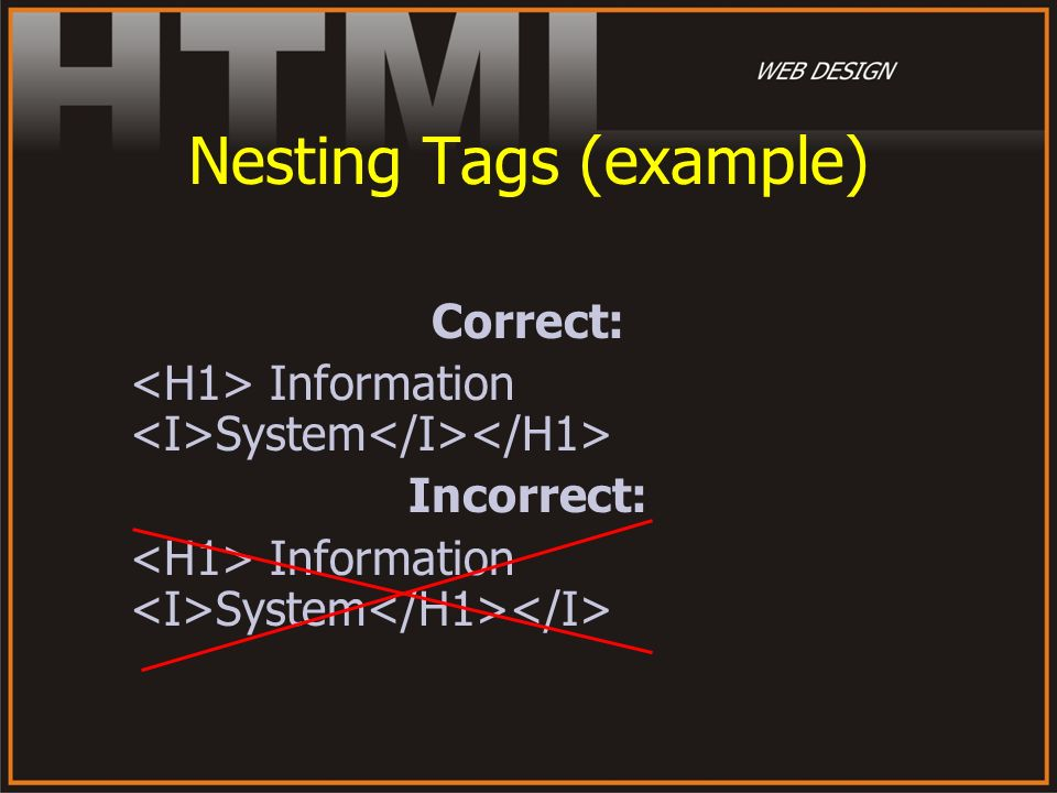 Nesting Tags (example)