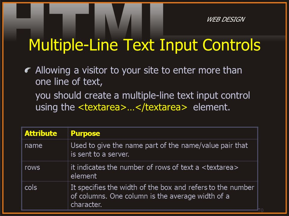 Multiple-Line Text Input Controls