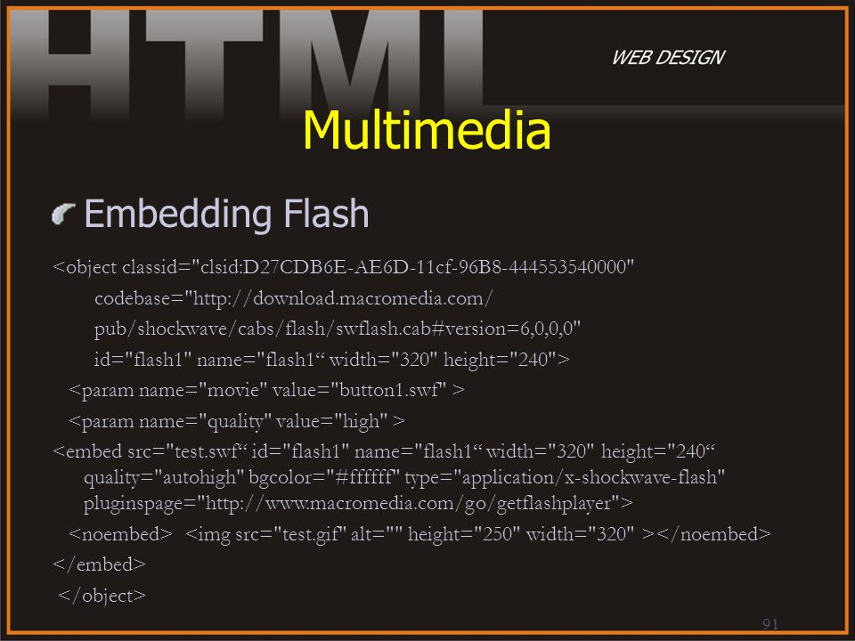 Multimedia Embedding Flash