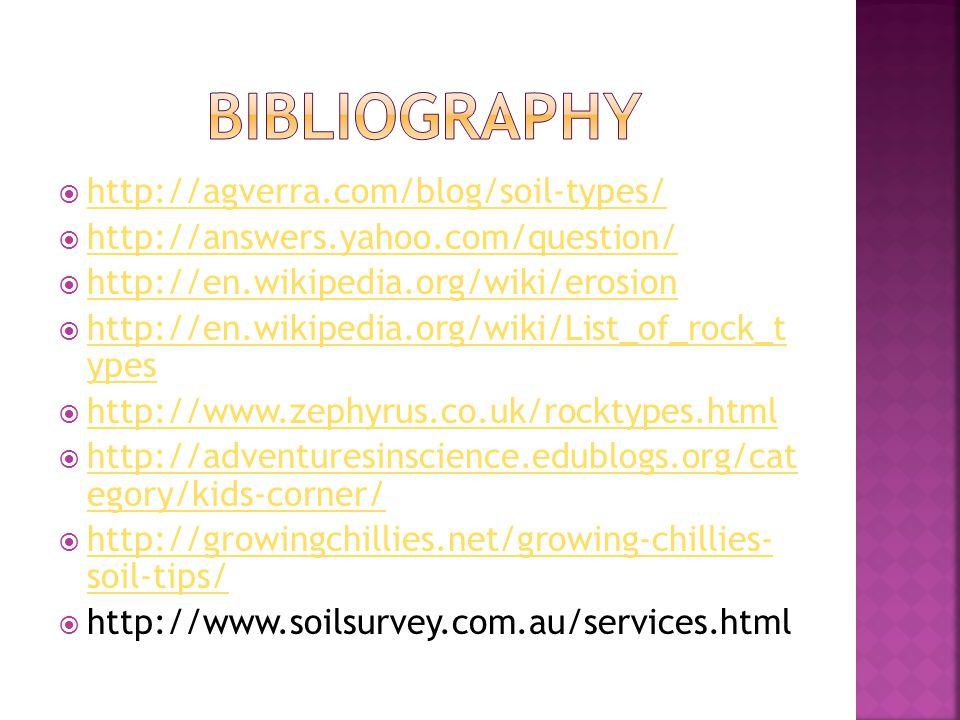 bibliography http://agverra.com/blog/soil-types/