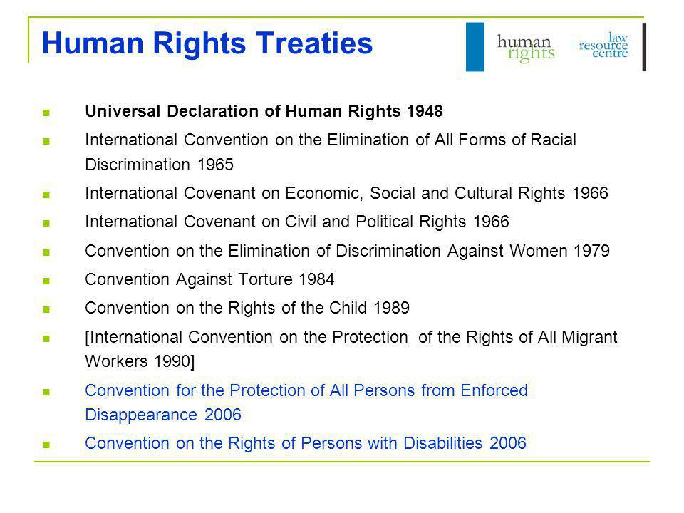 Human Rights Treaties Universal Declaration of Human Rights 1948