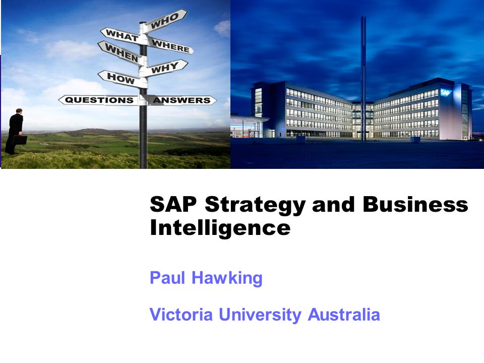 SAP Strategy and Business Intelligence
