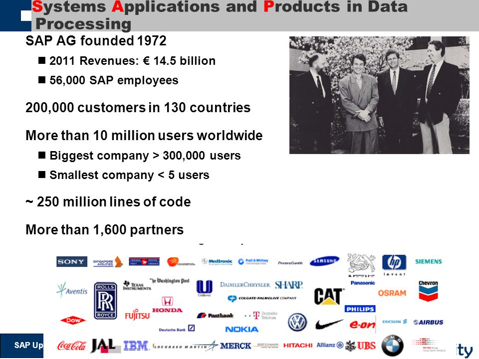 Systems Applications and Products in Data Processing