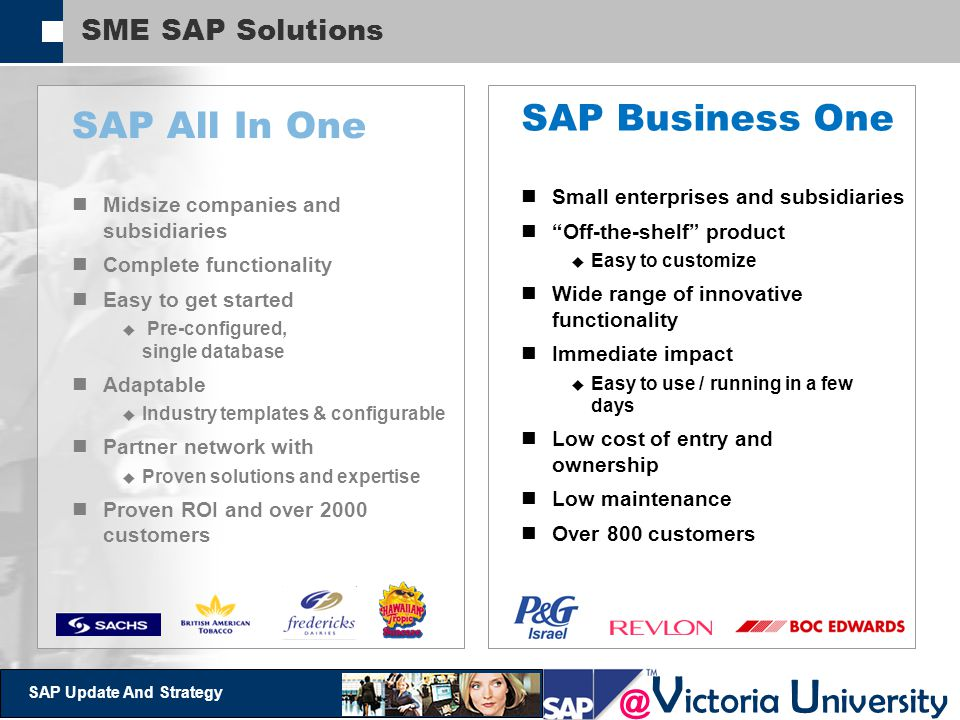 SAP Business One SAP All In One SME SAP Solutions