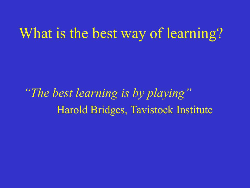 What is the best way of learning