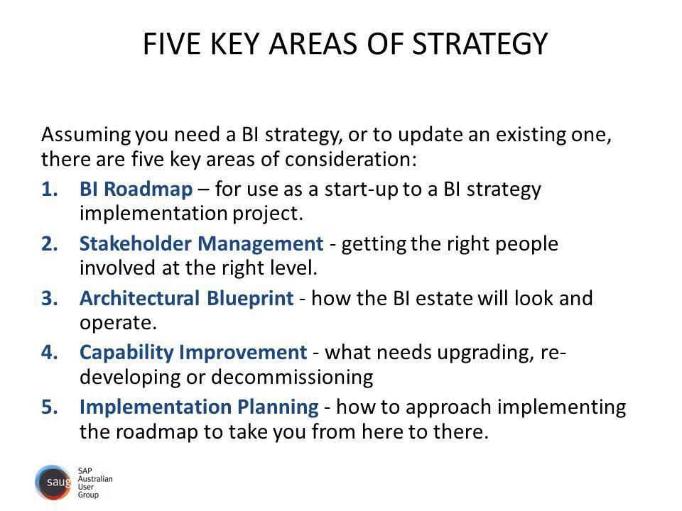 FIVE KEY AREAS OF STRATEGY