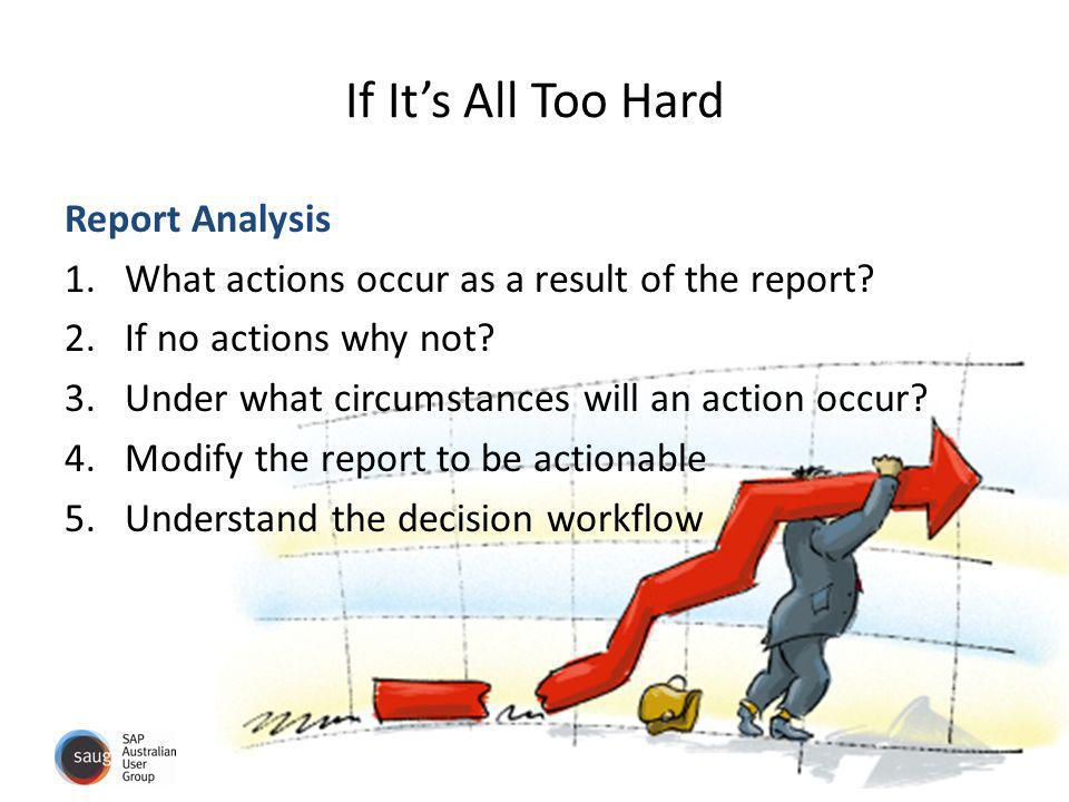 If It's All Too Hard Report Analysis