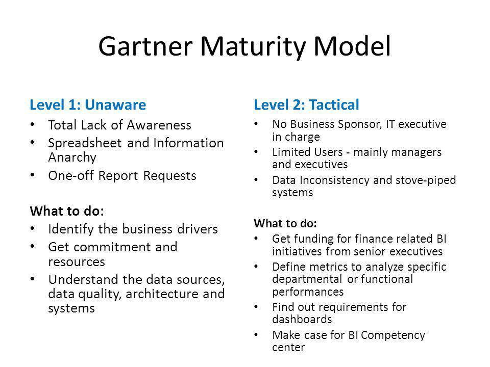 Gartner Maturity Model