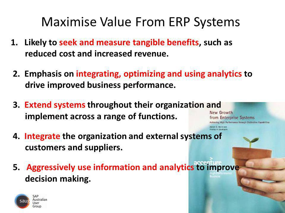 Maximise Value From ERP Systems