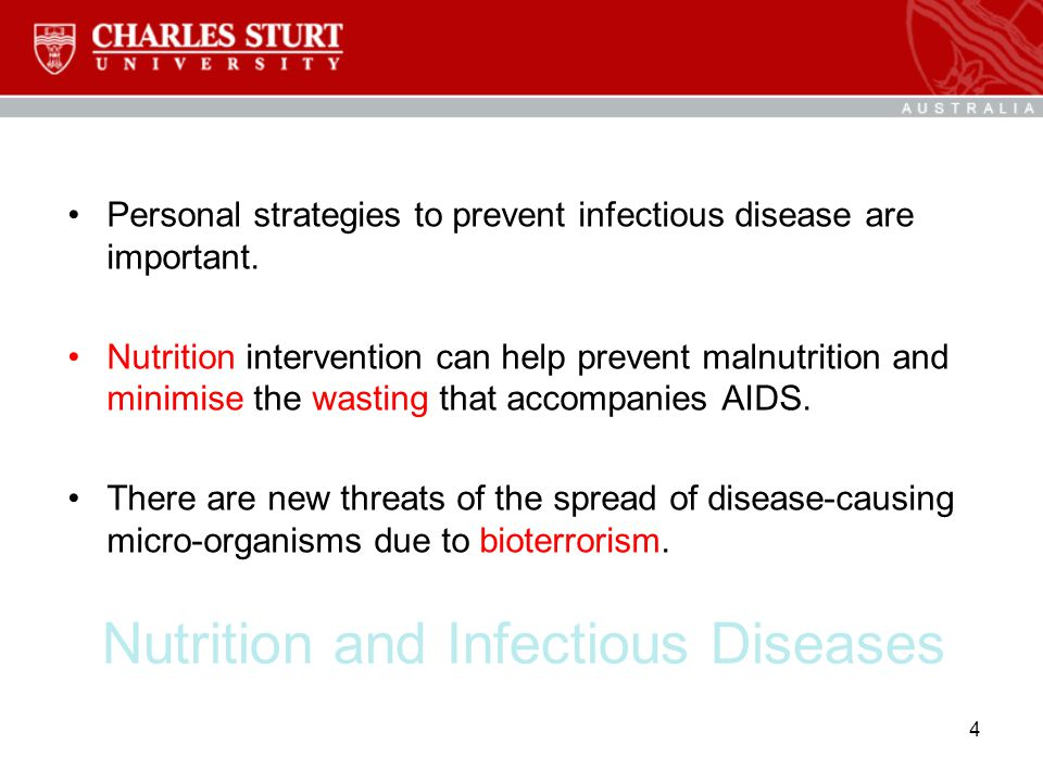Nutrition and Infectious Diseases