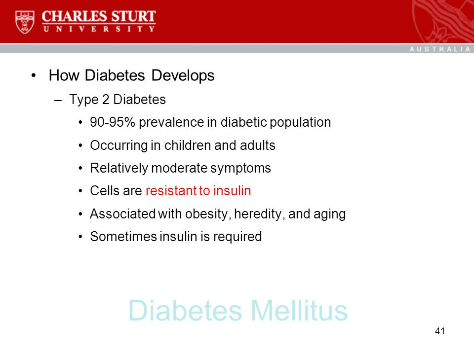 Diabetes Mellitus How Diabetes Develops Type 2 Diabetes