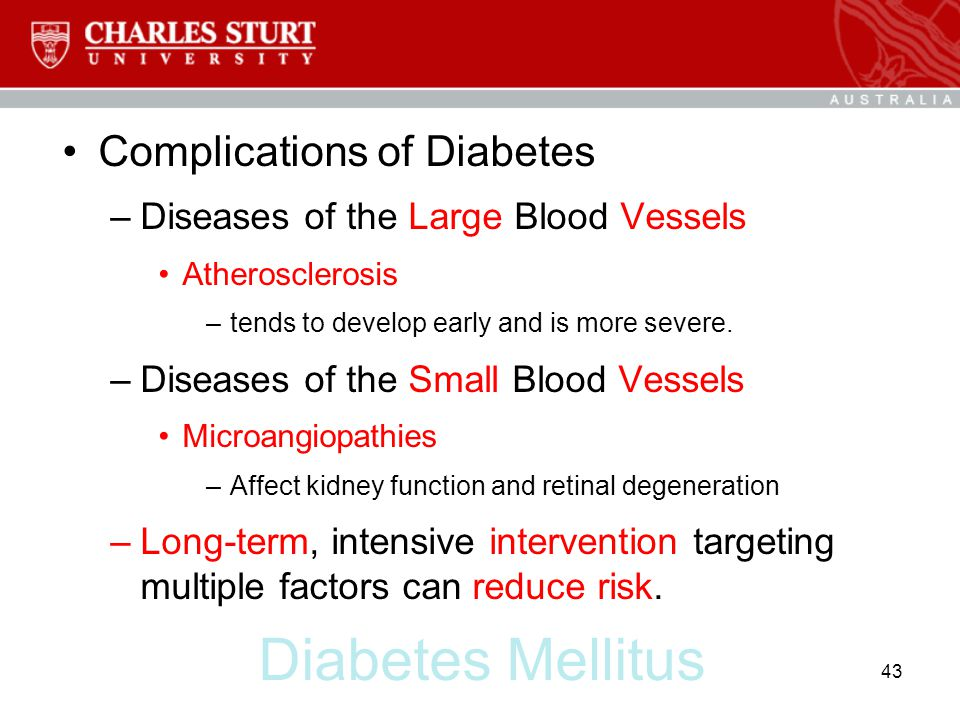 Diabetes Mellitus Complications of Diabetes