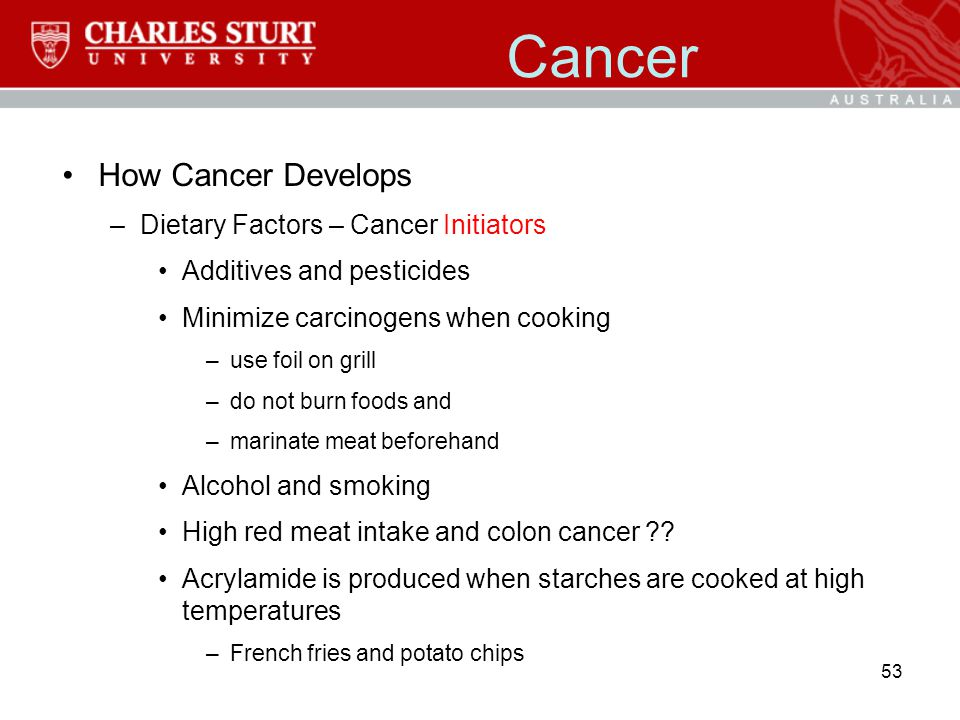 Cancer How Cancer Develops Dietary Factors – Cancer Initiators