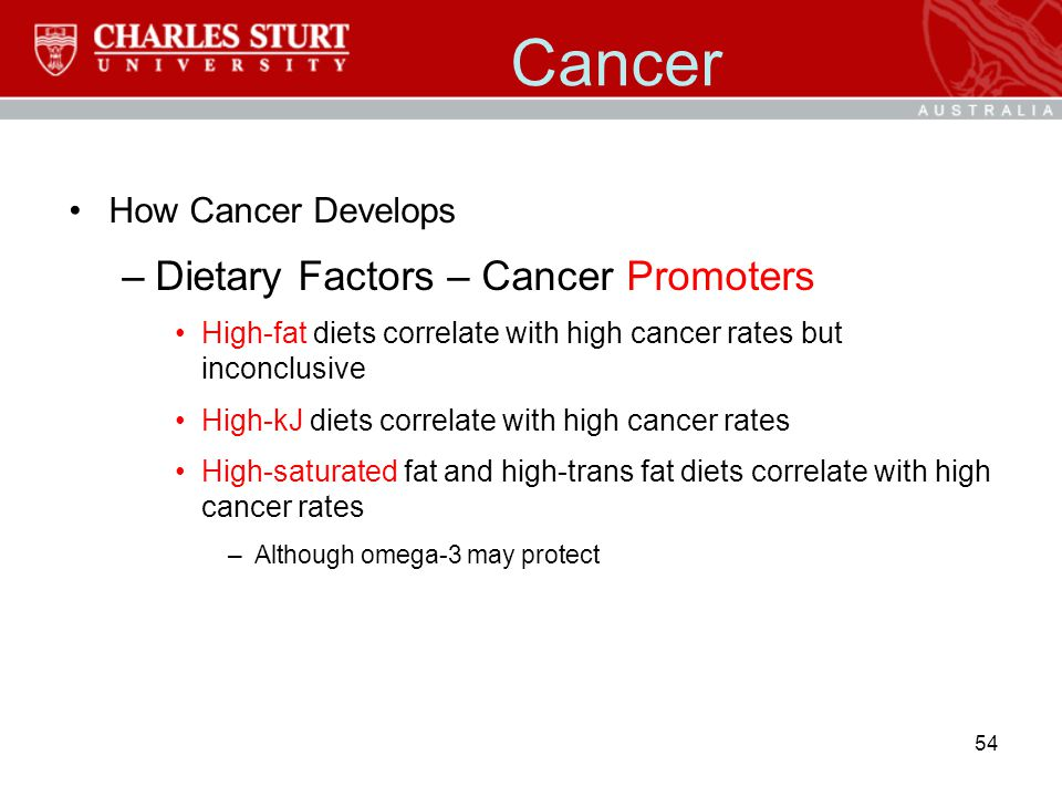 Cancer Dietary Factors – Cancer Promoters How Cancer Develops