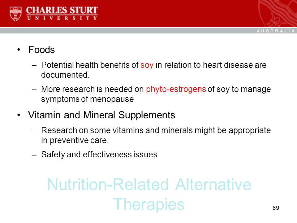 Nutrition-Related Alternative Therapies