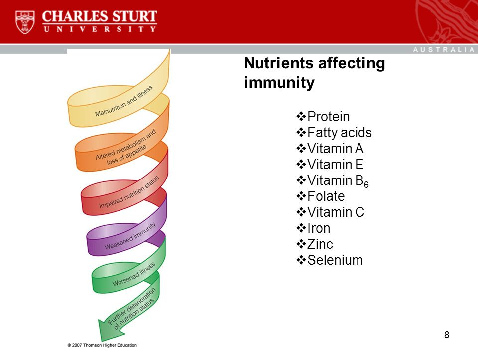 Nutrients affecting immunity