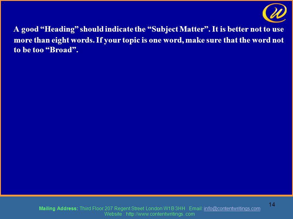 Website : http://www.contentwritings..com