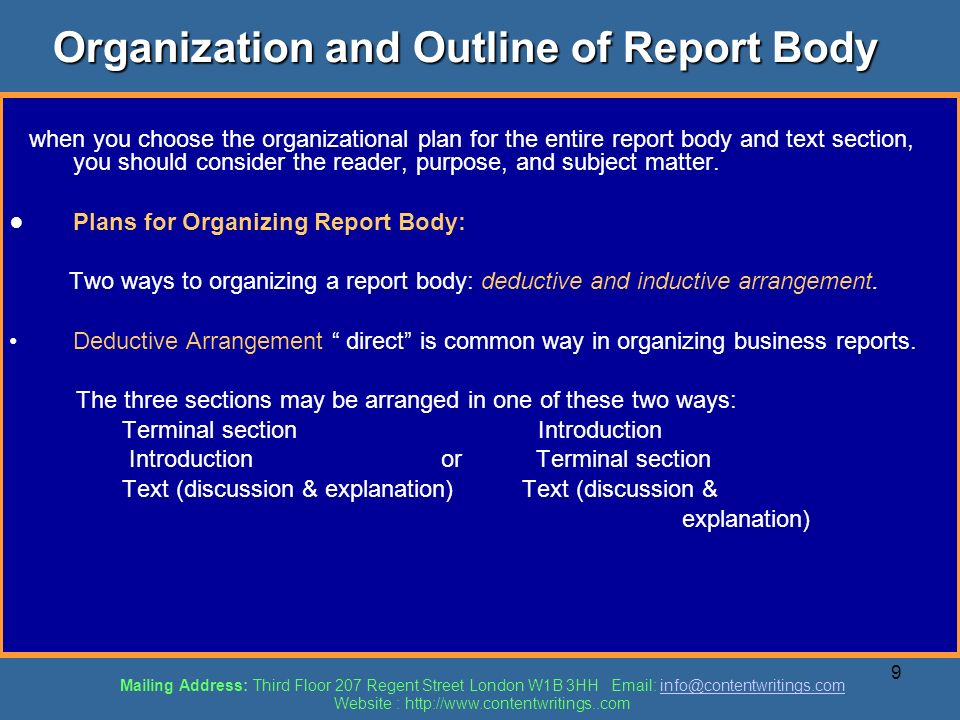 types business reports ppt file