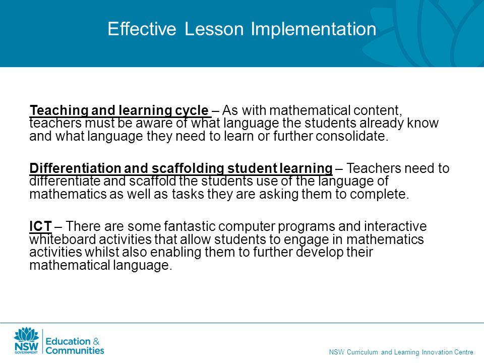 Effective Lesson Implementation