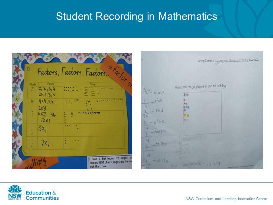 Student Recording in Mathematics