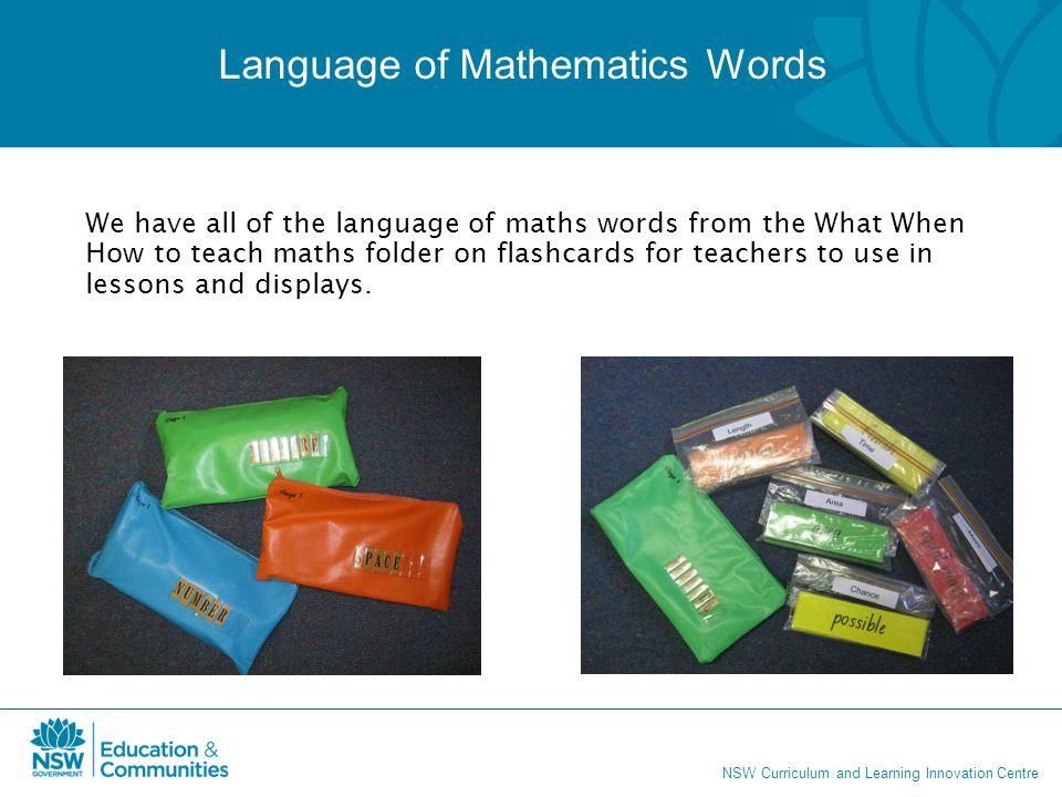 Language of Mathematics Words