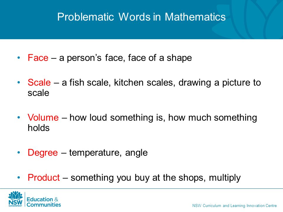 Problematic Words in Mathematics