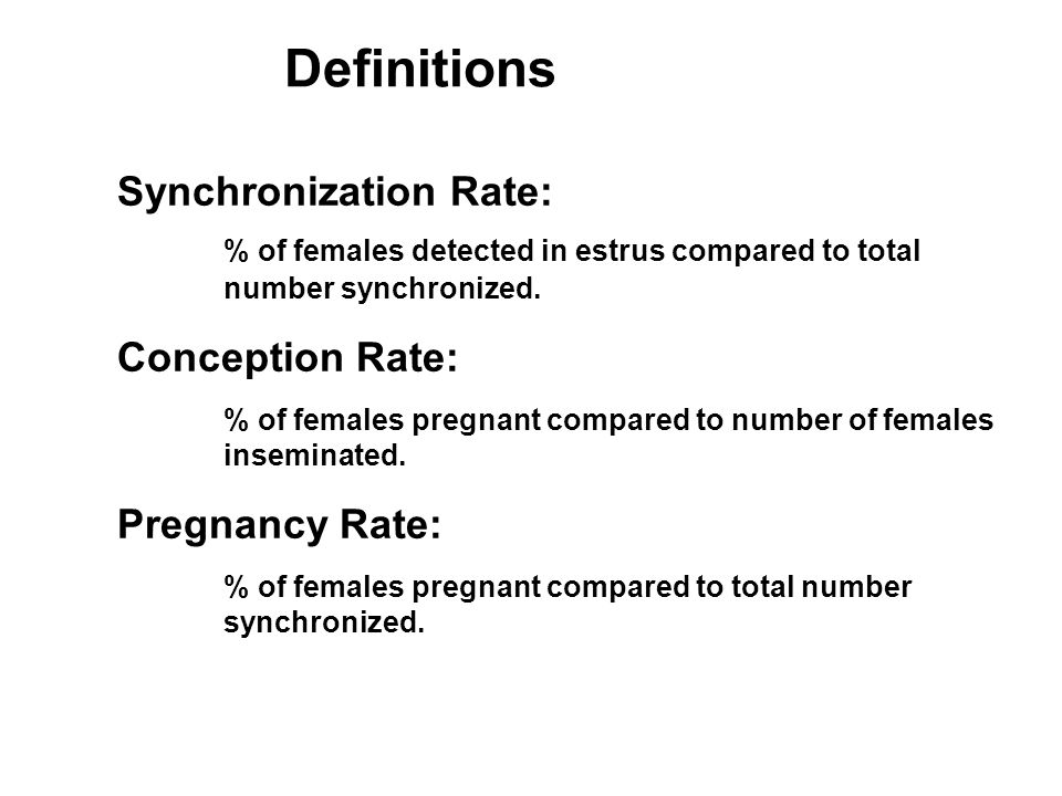 Definitions Synchronization Rate: