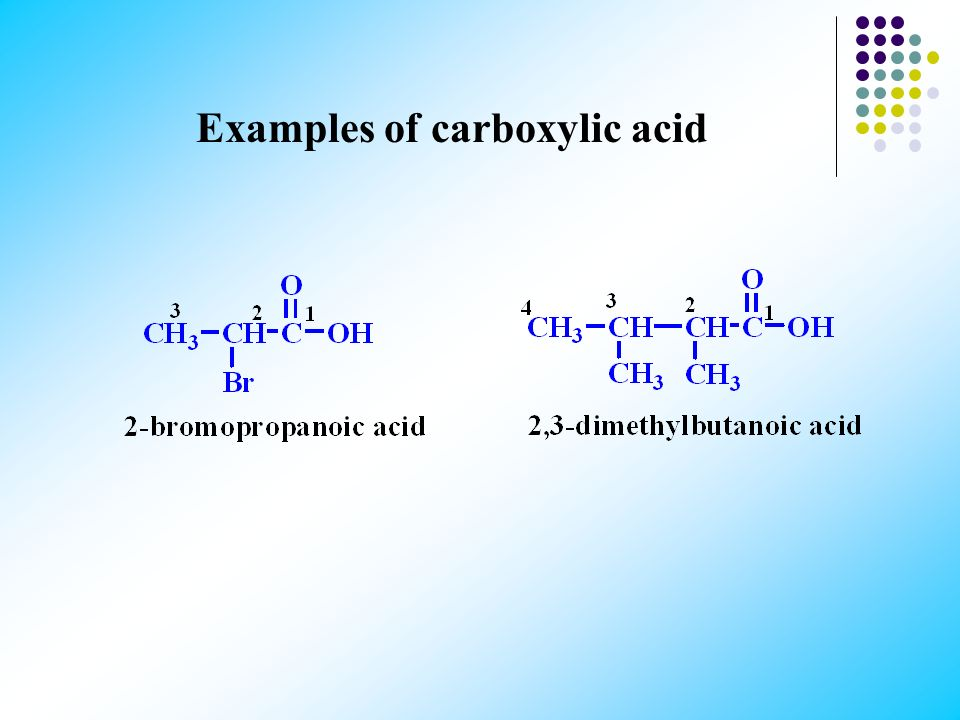 Examples of carboxylic acid