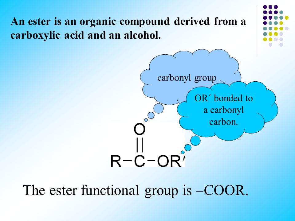 OR´ bonded to a carbonyl carbon.