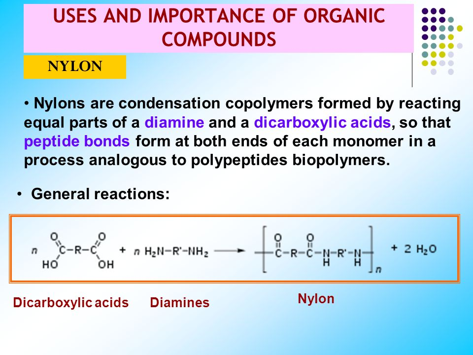 USES AND IMPORTANCE OF ORGANIC COMPOUNDS