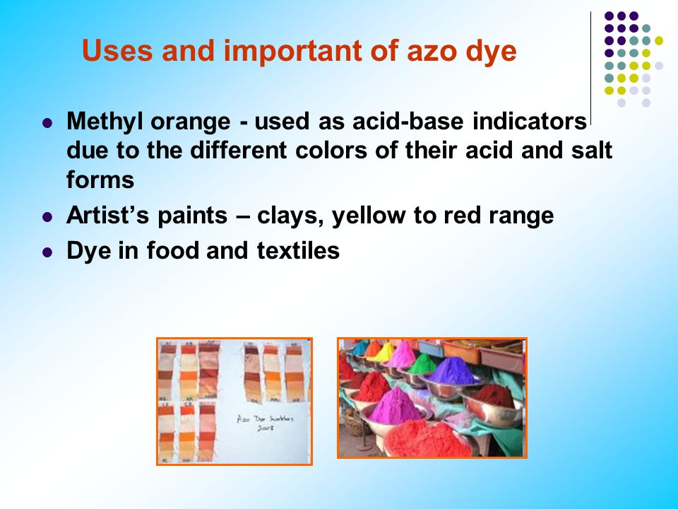Uses and important of azo dye