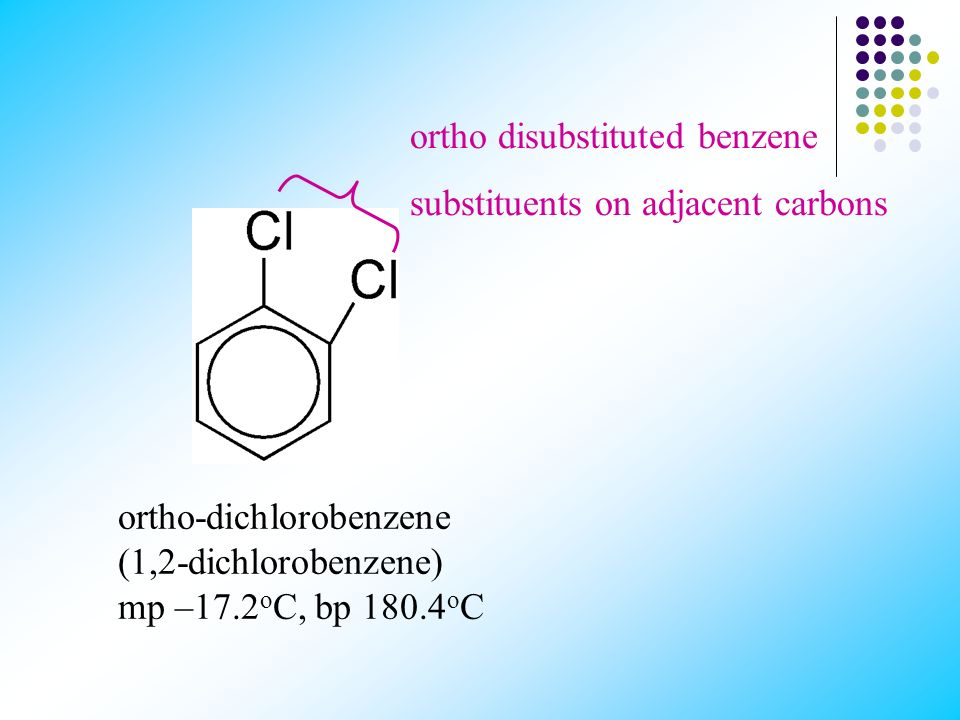 ortho disubstituted benzene