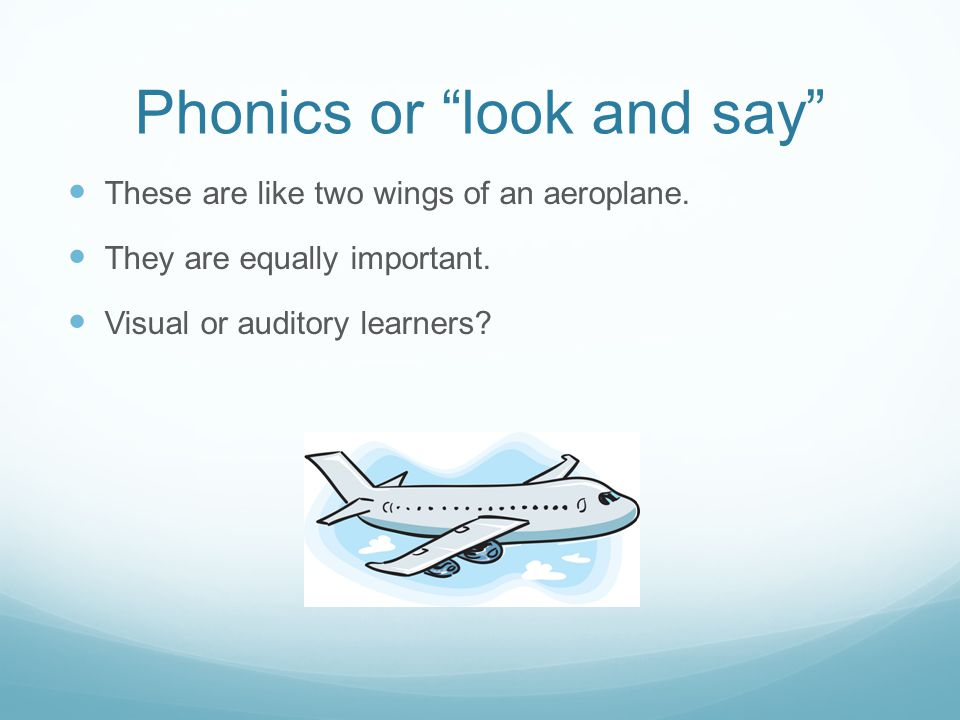Phonics or look and say