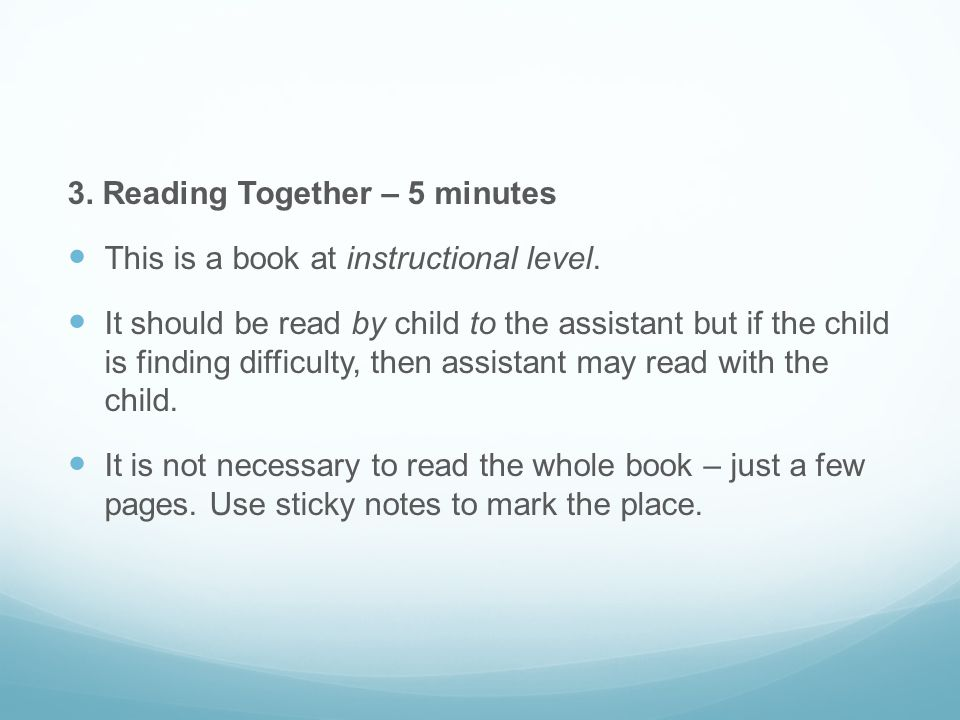 3. Reading Together – 5 minutes