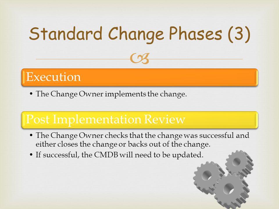 Standard Change Phases (3)