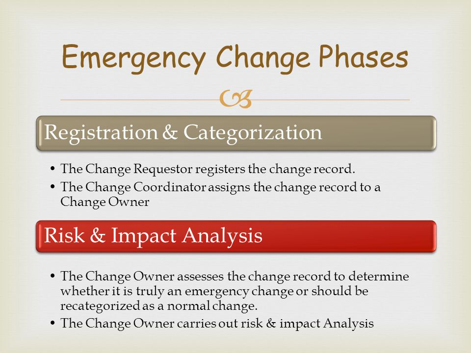 Emergency Change Phases