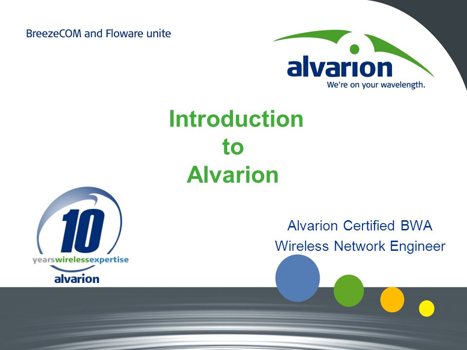 Introduction to Alvarion