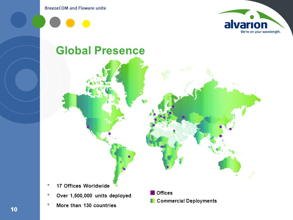 Global Presence 17 Offices Worldwide Over 1,500,000 units deployed