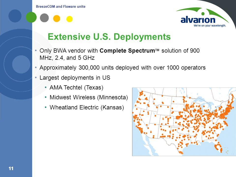 Extensive U.S. Deployments
