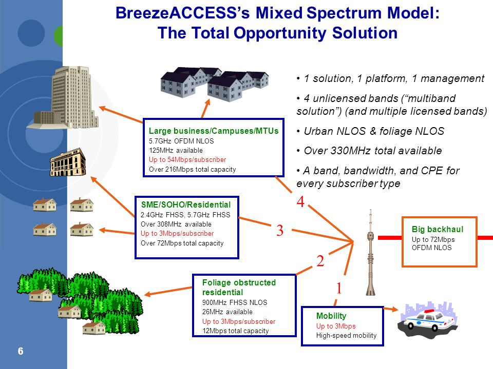 BreezeACCESS's Mixed Spectrum Model: The Total Opportunity Solution
