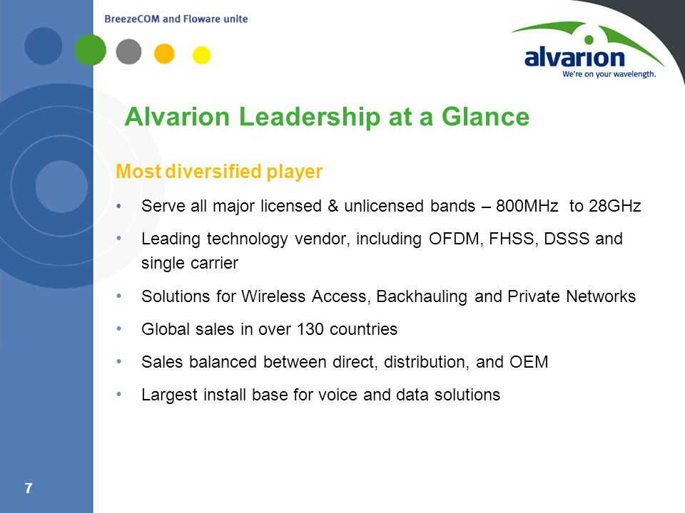 Alvarion Leadership at a Glance