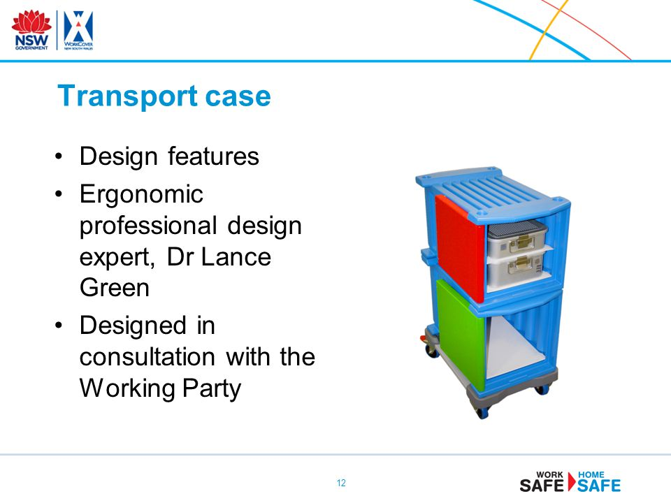 Transport case Design features