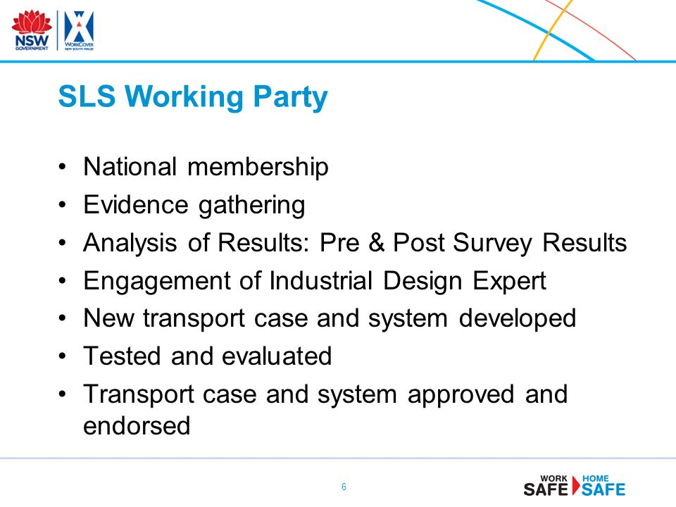 SLS Working Party National membership Evidence gathering