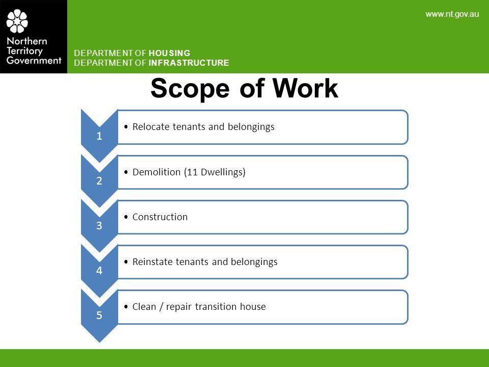 Scope of Work Relocate tenants and belongings