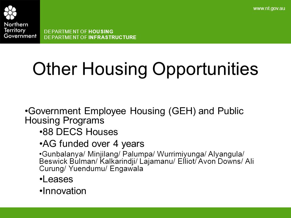 Other Housing Opportunities