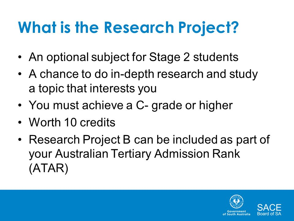 What is the Research Project