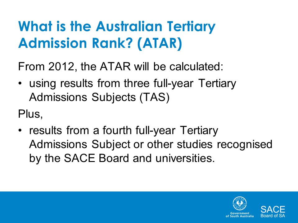 What is the Australian Tertiary Admission Rank (ATAR)