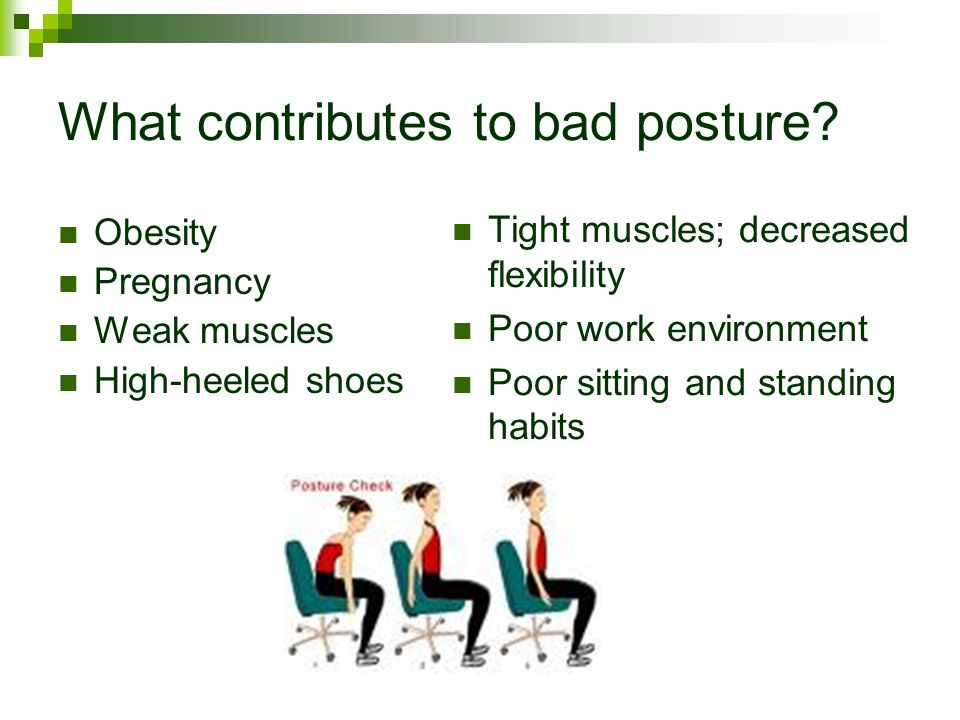 What contributes to bad posture