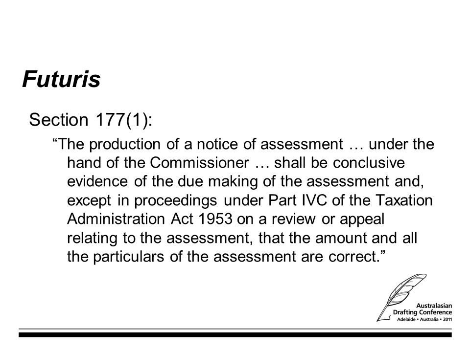 Futuris Section 177(1):